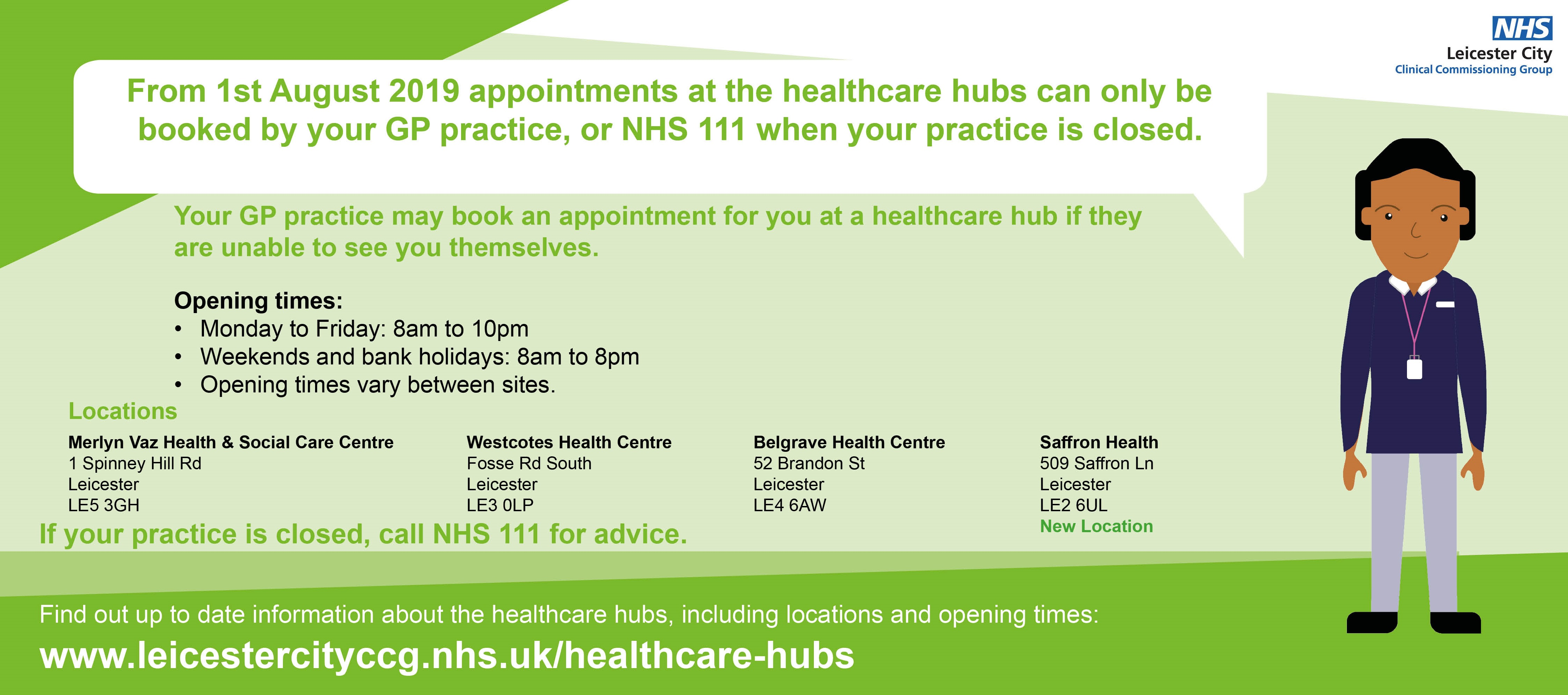 Leicester City Healthcare Hubs